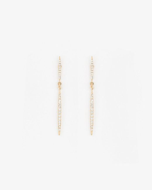 Le Chateau - Metallic Gem Drop Earrings - Lyst