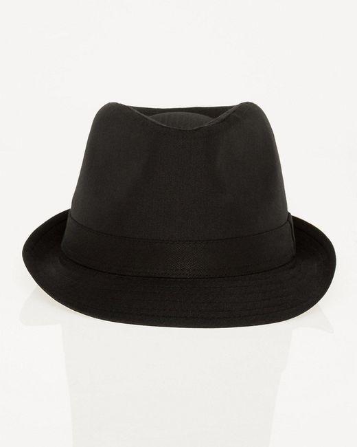 Le Chateau - Black Shiny Herringbone Fedora Hat for Men - Lyst