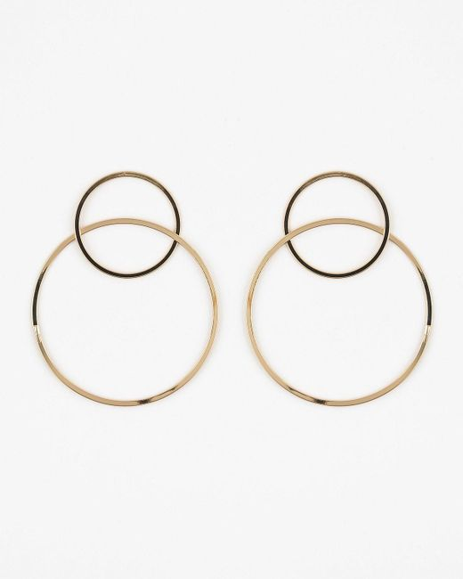 Le Chateau - Metallic Metal Double Hoop Earrings - Lyst
