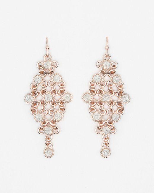 Le Chateau - Metallic Glitter Trapezoid Earrings - Lyst