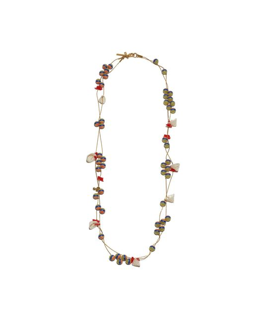 Lele Sadoughi - Multicolor Striped Shell Necklace - Lyst