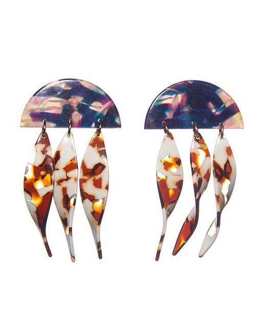 Lele Sadoughi - Multicolor Dangling Ivy Earrings - Lyst