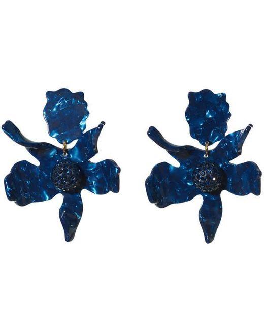 Lele Sadoughi - Blue Crystal Lily Earrings - Lyst