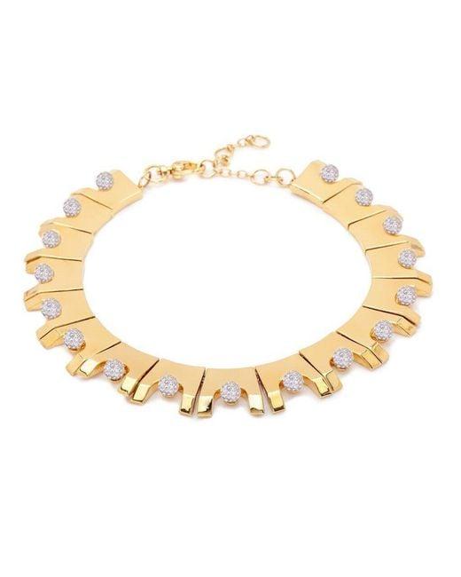 Lele Sadoughi - Multicolor Beaded Hinge Necklace - Lyst
