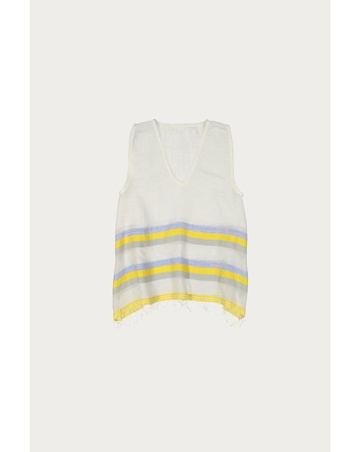 Lemlem - Yellow Mimi Fit And Flare Top - Lyst