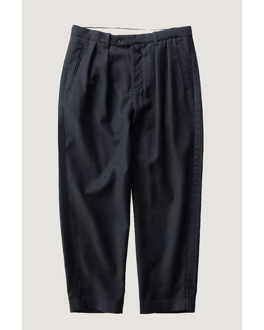 Still By Hand - Blue Multiwool Trouser   Navy - Lyst