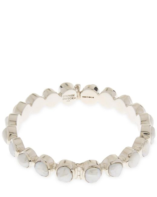 Stephen Dweck | Metallic Silver Keishi Pearl Bangle | Lyst