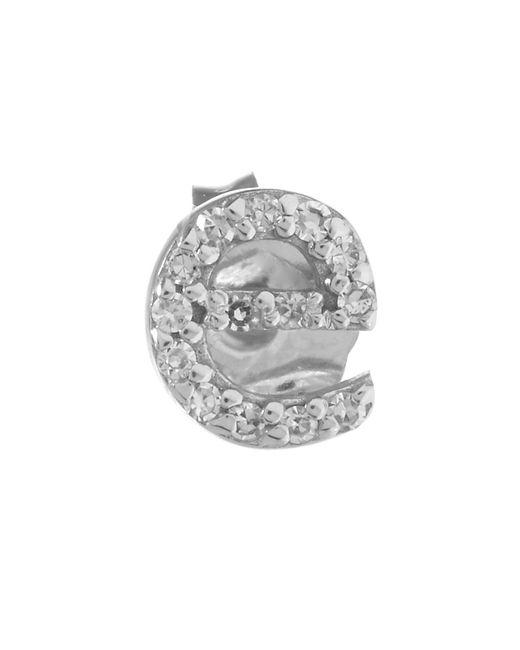 KC Designs | White Rose Gold Diamond E Single Stud Earring | Lyst