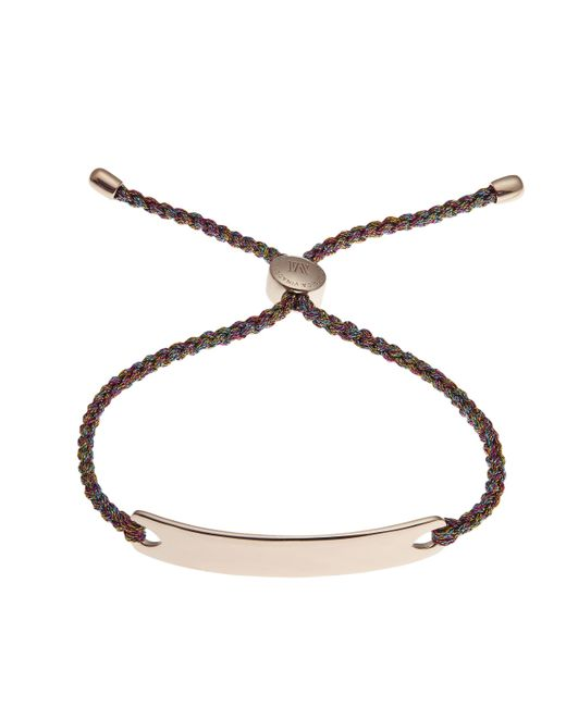 Monica Vinader | Multicolor Rose Gold-plated Havana Metallica Cord Friendship Bracelet | Lyst