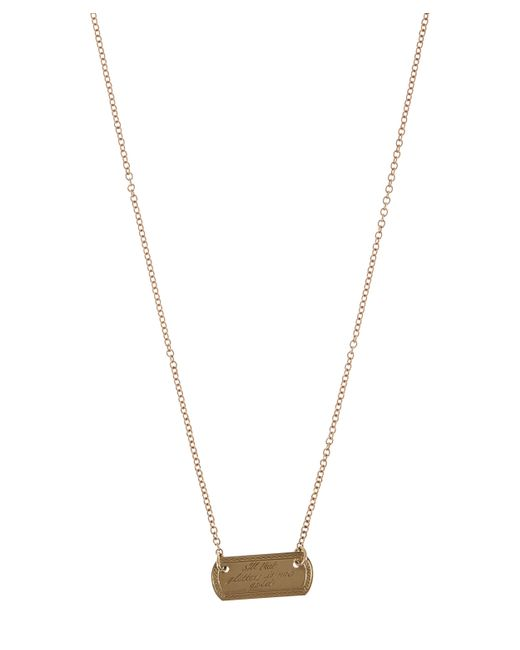 Annina Vogel - Metallic Gold Vintage All That Glitters Plaque Necklace - Lyst
