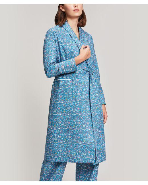 Liberty Blue Imran Long Cotton Robe