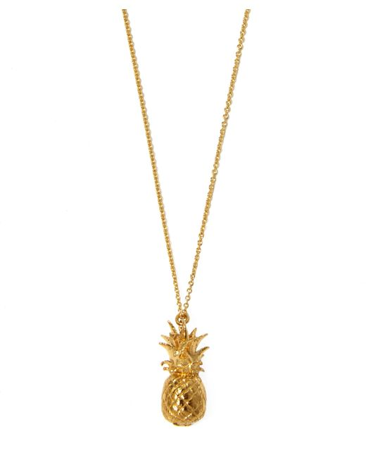 Alex Monroe | Metallic Gold-plated Pineapple Necklace | Lyst