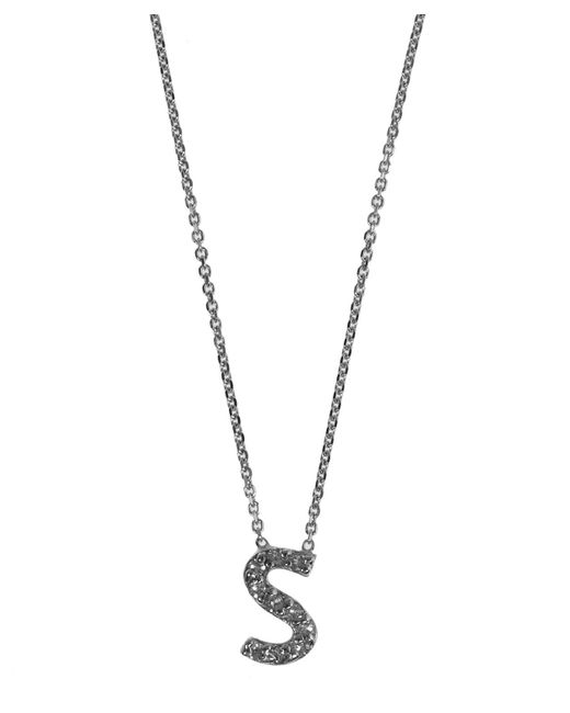 KC Designs | White Gold Diamond Letter S Necklace | Lyst