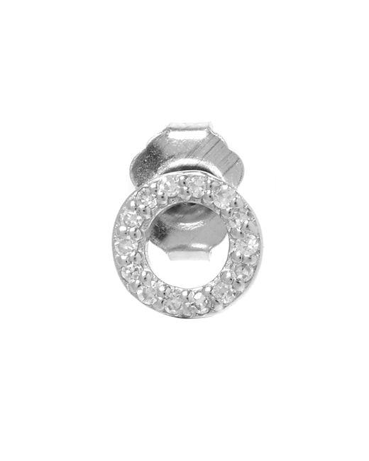 KC Designs | White Rose Gold Diamond O Single Stud Earring | Lyst