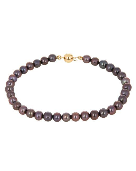 Kojis - Metallic Gold And Black Freshwater Pearl Bracelet - Lyst