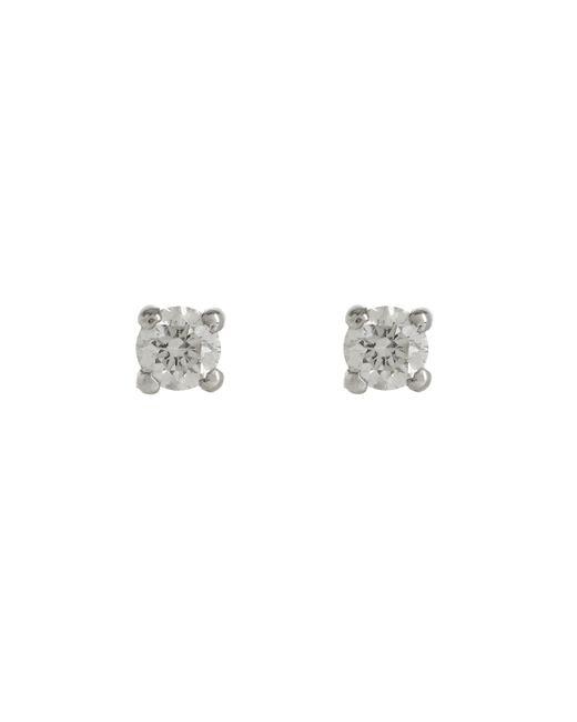 Kojis   Metallic White Gold Diamond Stud Earrings   Lyst