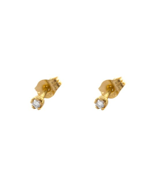 Alex Monroe | Yellow 18ct Gold Diamond Tiny Claw Stud Earrings | Lyst
