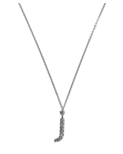 KC Designs - Metallic White Gold Diamond Letter J Necklace - Lyst