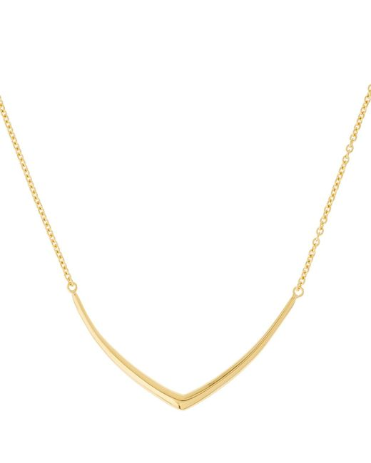 Dinny Hall | Metallic Small Gold-plated Cushion Chevron Necklace | Lyst