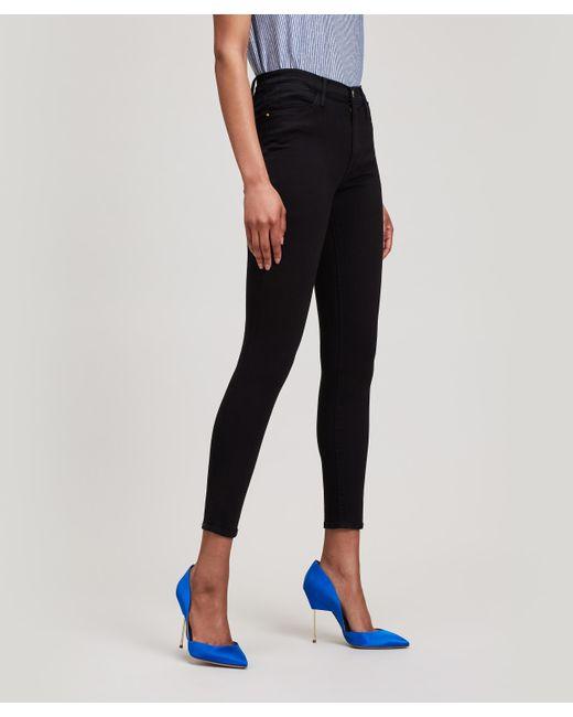 FRAME - Black Le High Skinny Jeans - Lyst