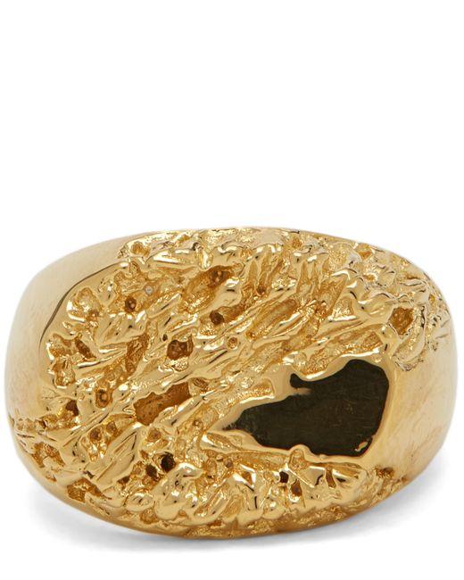 Maria Black - Metallic Gold-plated Rock Signet Ring - Lyst
