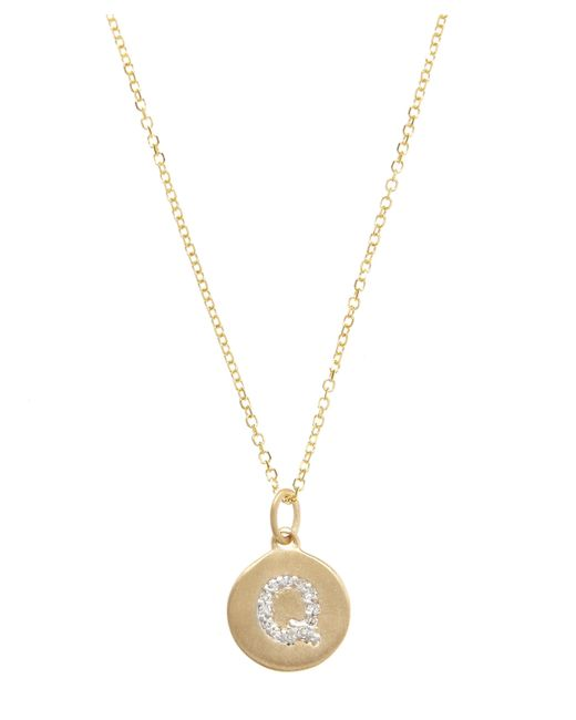 KC Designs - Metallic Gold And Diamond Letter Q Disc Pendant Necklace - Lyst