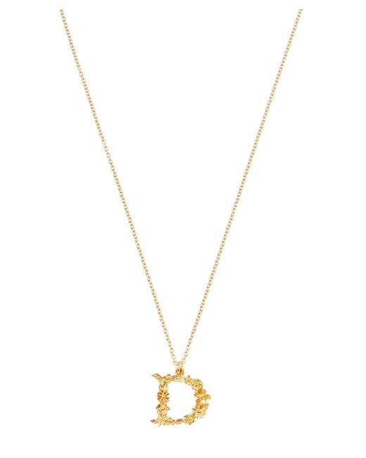 Alex Monroe - Metallic Gold-plated Floral Letter D Alphabet Necklace - Lyst