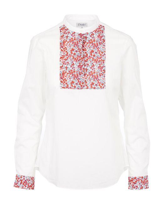 Liberty - White Square Bib Shirt - Lyst