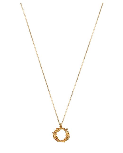 Alex Monroe - Metallic Gold-plated Floral Letter O Alphabet Necklace - Lyst