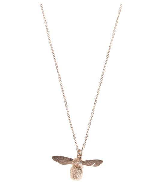Alex Monroe - Metallic Rose Gold Baby Bee Necklace - Lyst