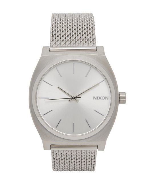 Nixon | Metallic Time Teller Milanese Silver-tone Watch | Lyst