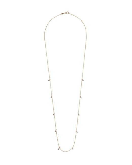Kismet by Milka - Metallic Rose Gold Grey Diamond Charm Long Necklace - Lyst