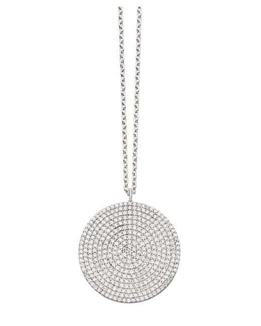 Astley Clarke - White Gold Large Icon Diamond Pendant Necklace - Lyst