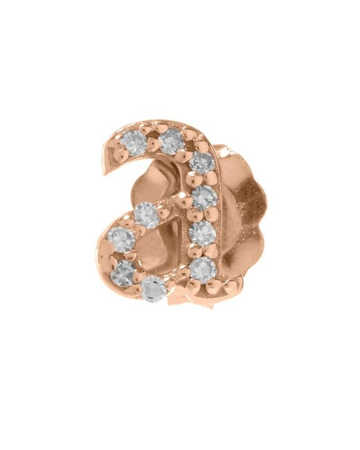 KC Designs | Multicolor Rose Gold Diamond A Single Stud Earring | Lyst