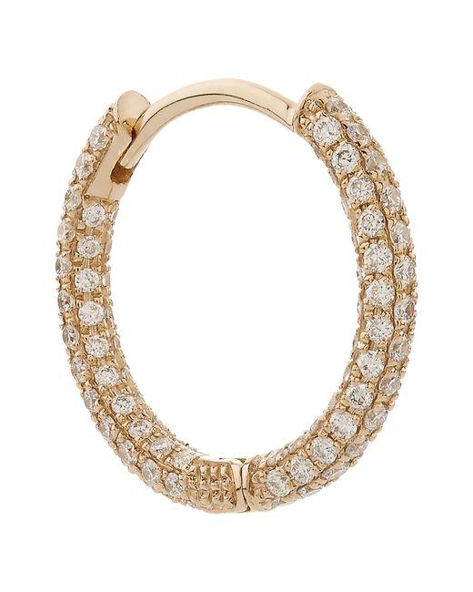 "Maria Tash - Metallic 3/8"" Diamond Five Row Pave Earring - Lyst"