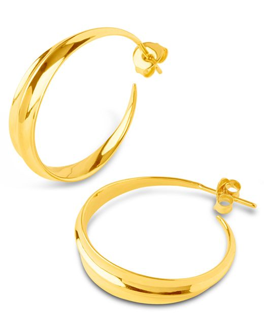 Dinny Hall - Metallic Medium Gold-plated Lotus Hoops - Lyst
