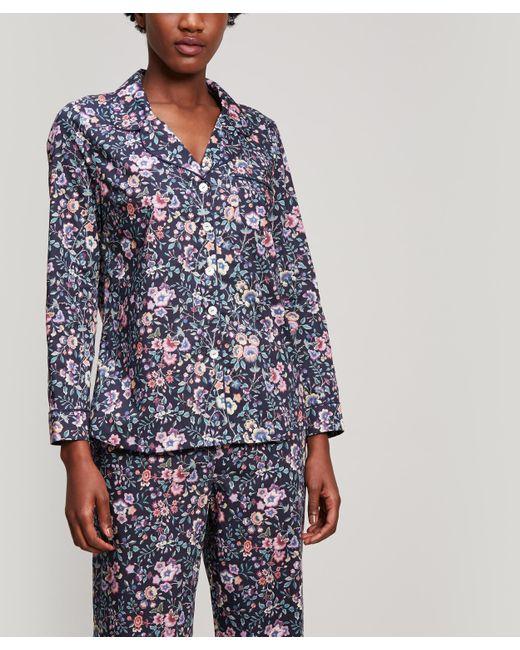 Liberty - Blue Delilah Tana Lawn Cotton Long Pyjama Set - Lyst
