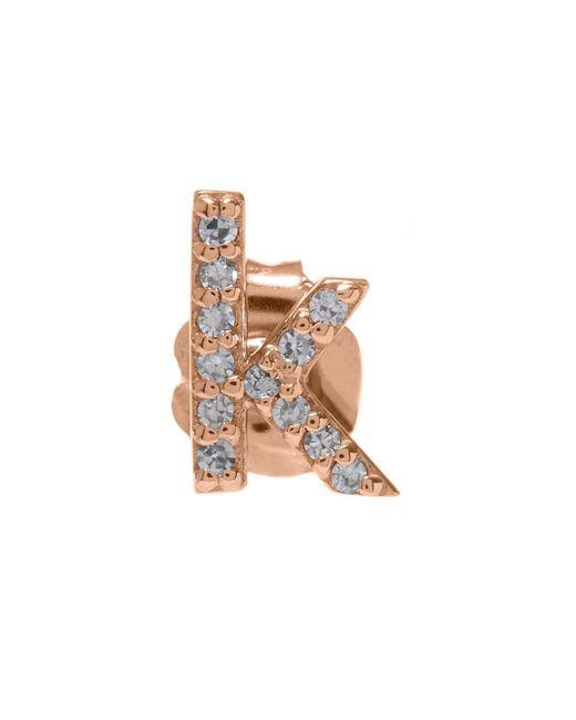 KC Designs - Multicolor Rose Gold Diamond K Single Stud Earring - Lyst
