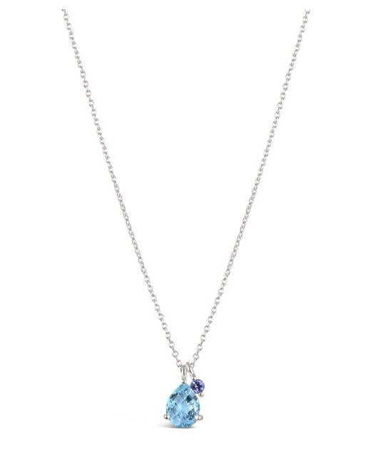 Dinny Hall - Metallic Silver Gem Drops Sky Blue Topaz Pendant Necklace - Lyst