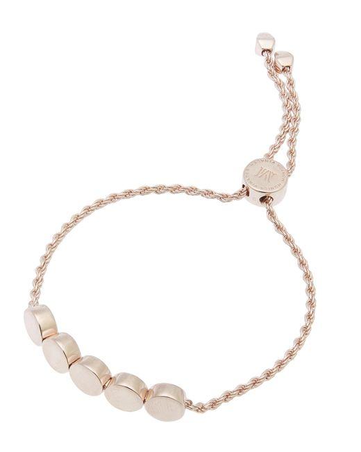 Monica Vinader - Metallic Rose Gold Vermeil Linear Bead Friendship Chain Bracelet - Lyst