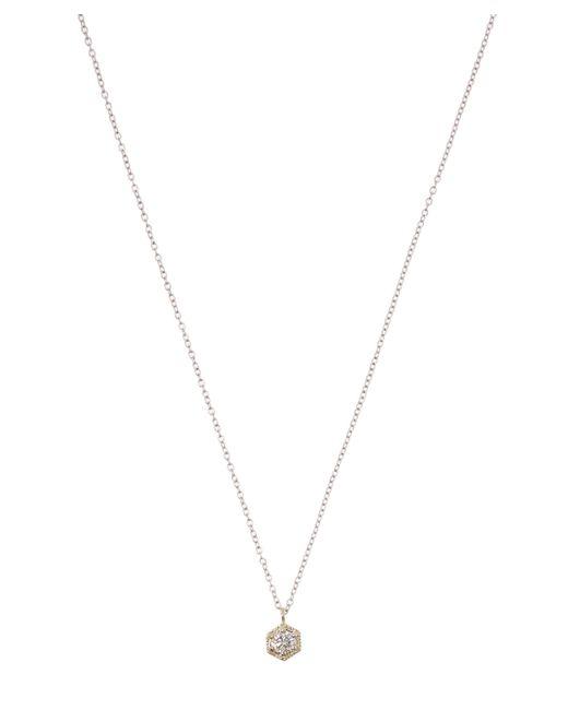Satomi Kawakita - White Diamond Hexagon Necklace - Lyst