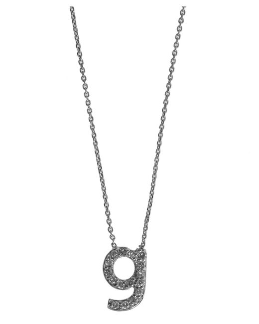 KC Designs - Metallic White Gold Diamond Letter G Necklace - Lyst