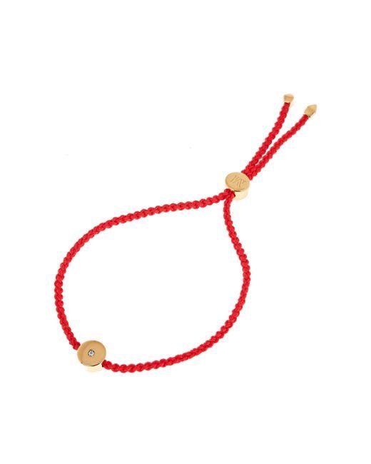 Monica Vinader - Metallic Gold Vermeil Linear Solo Diamond Cord Friendship Bracelet - Lyst