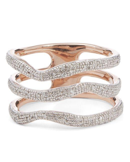 Monica Vinader - Multicolor Riva Diamond Wave Triple Band Ring - Lyst