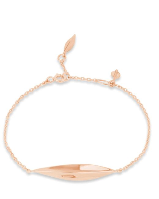 Dinny Hall - Pink Rose Gold-plated Lotus Bracelet - Lyst