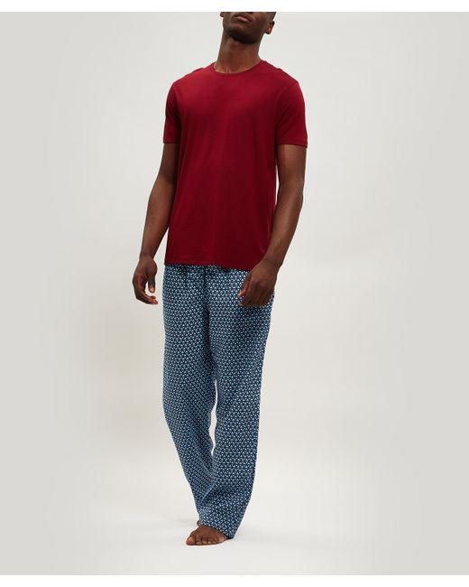 0a09f6f21bcf ... Derek Rose - Red Basel 7 Micro Modal T-shirt for Men - Lyst ...