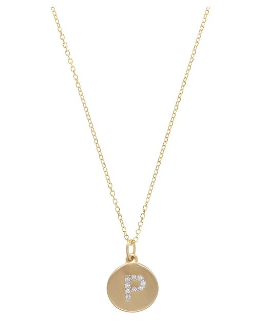 KC Designs - Metallic Gold And Diamond Letter P Disc Pendant Necklace - Lyst