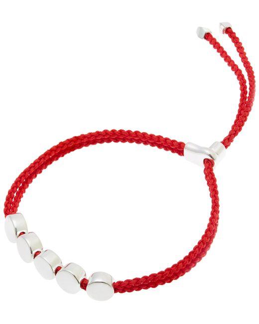 Monica Vinader | Metallic Silver Linear Bead Friendship Bracelet | Lyst