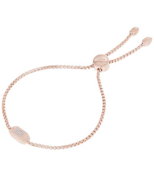 Monica Vinader - Metallic Rose Gold-plated Baja Deco Diamond Bracelet - Lyst