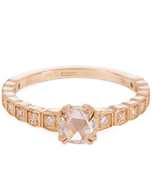 Anna Sheffield - Metallic Gold And Diamond Tiny Wheat Ring - Lyst